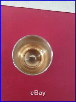 Service Liqueur 12 Gobelets Puiforcat Vermeil Argent Massif Minerve Magnifique