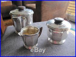 Service a café argent massif minerve ensemble art nouveau/art deco 1158grs