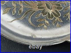 Service à glace en argent massif et vermeil cuillères art nouveau