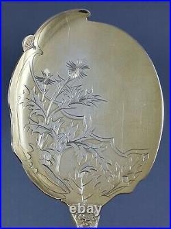 Service à glace en vermeil argent massif Art Nouveau Minerve cuillères