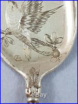 Service à glace en vermeil argent massif Art Nouveau cuillères Minerve