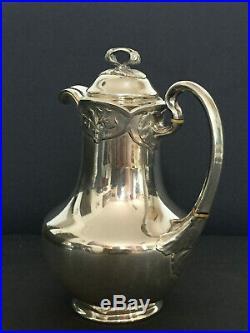 Service à thé café complet en argent massif ART NOUVEAU 1896-1910