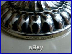 Serviteur cuillères à caviar Fleuron France Christofle 6 éléments métal argenté