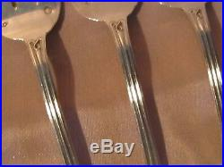 Six fourchettes à huître argent massif décor coquille monogrammes Art Nouveau