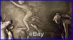 Somptueux Plateau Art nouveau WMF Scène de chasse Déesse Diane 1900/20 coté