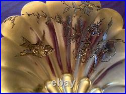 Splendide, Pelle à fraises en argent massif au décor d'oiseaux, ART NOUVEAU