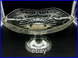 Sublime Coupe en argent massif et en cristal gravé à la main, Art Nouveau