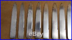 Suite 10 couteaux Argent E. PUIFORCAT poinçon Minerve couteau de table 25 cm