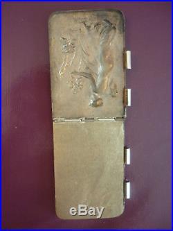 Superbe Carnet De Bal Ancien Signe E. Dropsy Art Nouveau Metal Argente