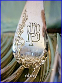 Superbe Menagere 24 Pieces Art Nouveau, Boulenger, Metal Argente, Ecrin
