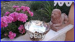 Superbe coupe art nouveau au iris metal argenté gallia