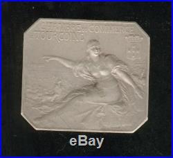 Superbe plaquette argent art nouveau Tourcoing foire aux draps