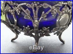 Superbe sucrier en argent massif Art Nouveau avec couronne Comtale