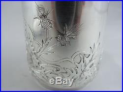 Tasse & Sous Tasse Art Nouveau Chardon Argent Massif Minerve Doutre Roussel 1895