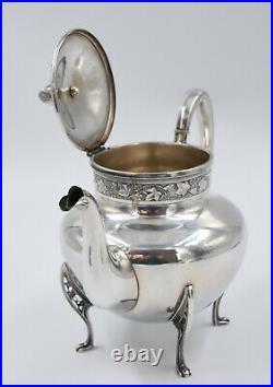 THEIERE VERSEUSE ARGENT MASSIF 800 art nouveau silver teapot jugendstil