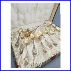 Tiffany & Co service en argent massif Art Nouveau 1900 modèle audubon