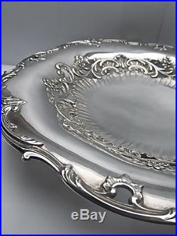 Très belle coupe présentoir argent massif époque art nouveau 368 gr