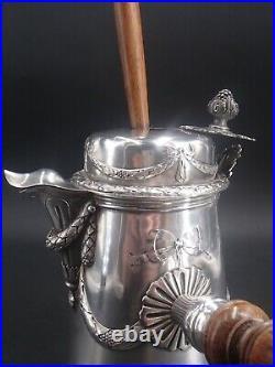 Tres Belle Chocolatiere En Argent Massif Poincon Minerve Louis XVI Moussoir