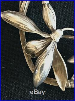 Très Rare Collier en Argent signé Henri Victor Miault Art Nouveau 1910/15