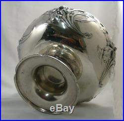 Très belle coupe Gallia, Art Nouveau, métal argenté, Christofle, excellent état