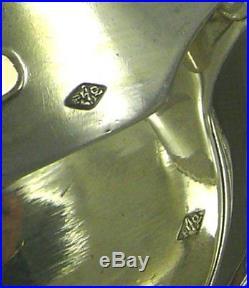 Très belle ménagère 37 pièces argent massif Minerve, Queillé, Art Nouveau 2,5 Kg