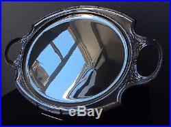 Très grand plateau de service en métal argenté par Christofle Gallia Début XXème