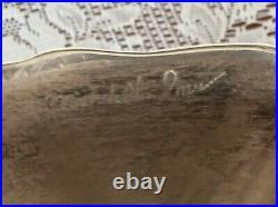 Vase Christofle Metal Argente Edition Palm Vase Michele Oka Donner