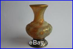 Vase DAUM Nancy Art nouveau argent fraisier Art nouveau verrerie (37255)