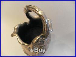 Vase pichet signé Alexandre Vibert bronze argenté art nouveau french jugendstil