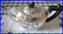 Victor Saglier Service à café-thé 4 pièces, métal argenté-Style Art nouveau