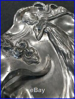 WMF Art Nouveau Iris argenté 1900