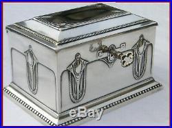 WMF BOITE COFFRET ART NOUVEAU MÉTAL ARGENTÉ JEWELLERY BOX SILVER PLATE deco