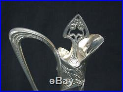 WMF Germany AIGUIERE Carafe métal argenté ART NOUVEAU Jugendstil no Christofle