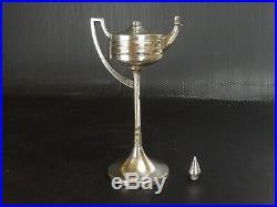 WMF, Lampe à Huile, Bronze Art Nouveau. Couronne Héraldique, Rois, Prince Cigare