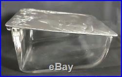 WMF boîte métal argenté et verre femme 1900 Art Nouveau
