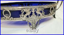 Wmf Centre De Table Jardiniere Syles Empire Cristal Et Metal Argenté Circa 1900