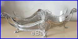 Wmf Jugendstil Jardiniere art nouveau métal argenté & cristal