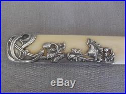 XIXème Art Nouveau Coupe-papier décor en argent