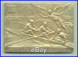 XXRare ART NOUVEAU Argent FEDERATION FRANCAISE DES SOCIETES D'AVIRON 1907
